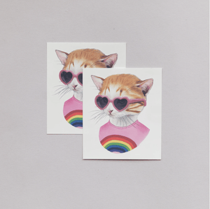 Rainbow Kitty Tattoo Pair - Adele Gilani Art Gallery