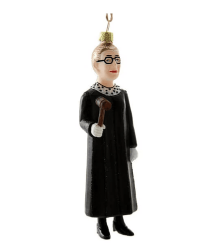 Ruth Bader Ginsberg Holiday Ornament - Adele Gilani Art Gallery