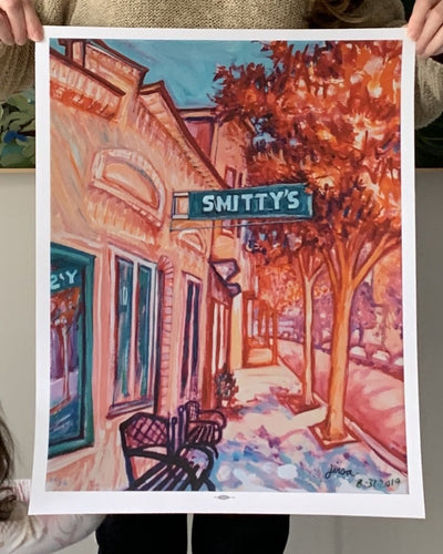 Smitty's Bar Print - Adele Gilani Art Gallery