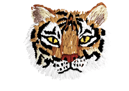 Stitched Tiger Tattoo Pair - Adele Gilani Art Gallery