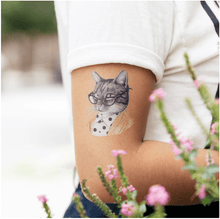 Load image into Gallery viewer, Tabby Cat Tattoo Pair - Adele Gilani Art Gallery