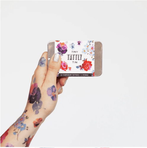 Tiny Floral Tattoo Tin - Adele Gilani Art Gallery