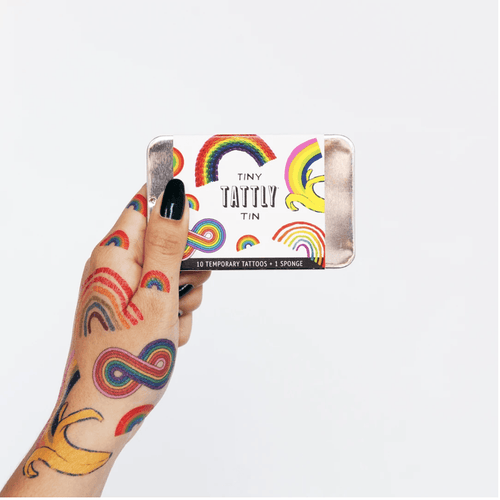 Tiny Rainbow Tattoo Tin - Adele Gilani Art Gallery