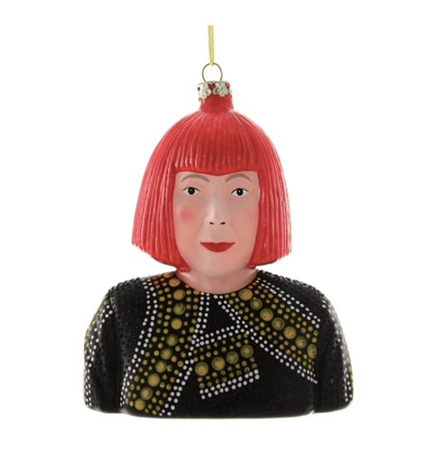 Yayoi Kusama Holiday Ornament - Adele Gilani Art Gallery