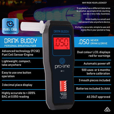 Drink Buddy Breathalyser Personal BT-1 Specifications