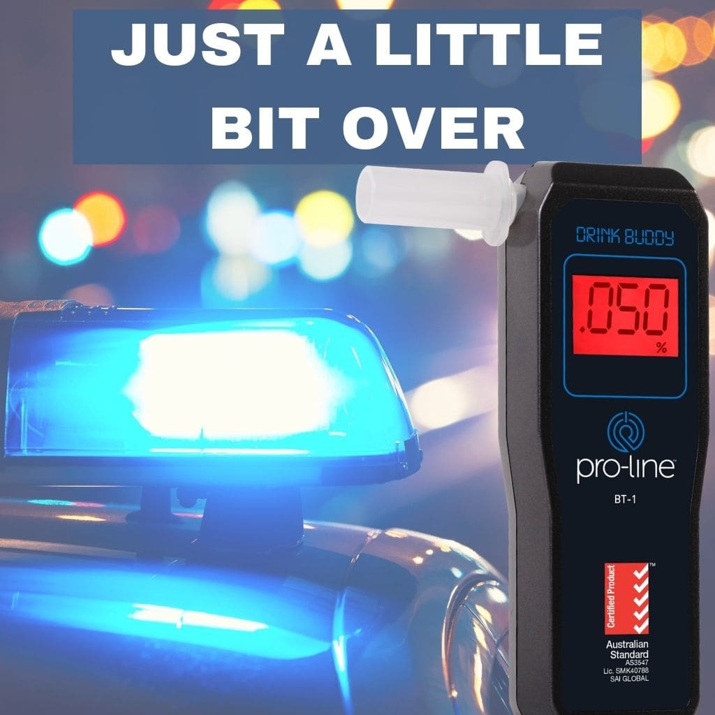 Drink Buddy Breathalyser BT-1 with Police Car