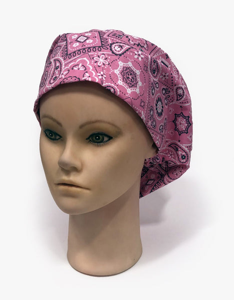 Details about  /Medallion Circles Chocolate Brown  Medical CHEMO CAP Surgical SCRUB CAP