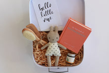 Load image into Gallery viewer, Newborn Baby Bub Mother Mum Mumma Hamper Gift Present Keepsake Box Congratulations New Parents Family Cute Balm Baby Brush Bunny Rattle Motherhood book