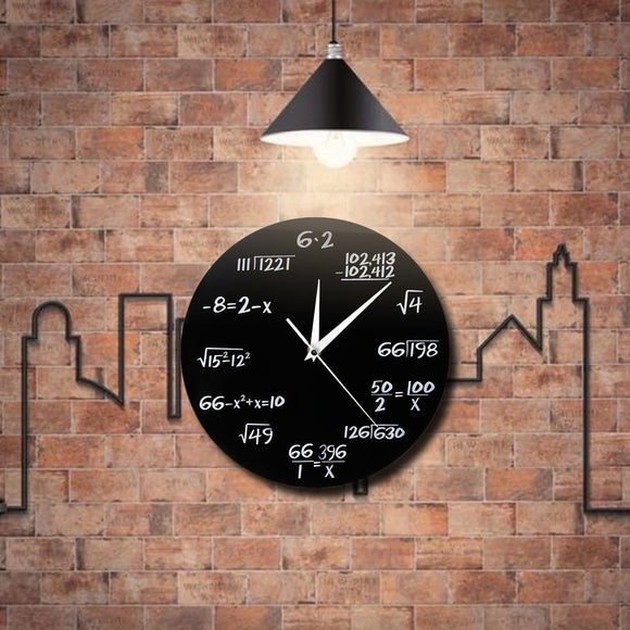 Math Equations Wall Clock