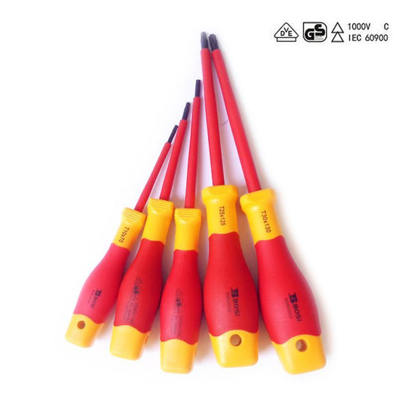 5-piece Professional Insulated Torx Screwdriver Set