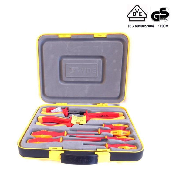 9-in-1 Insulated Electrician Screwdriver and Pliers Set