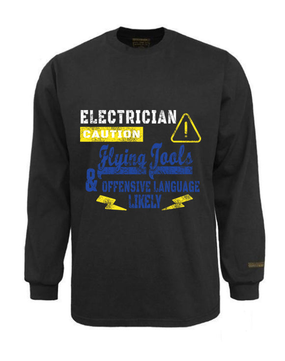 Electrician Flame & Arc Flash Resistant Custom Graphic Work Shirt Flying Tools