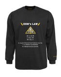 Electrician Flame & Arc Flash Resistant Custom Graphic Work Shirt Ohm's Law