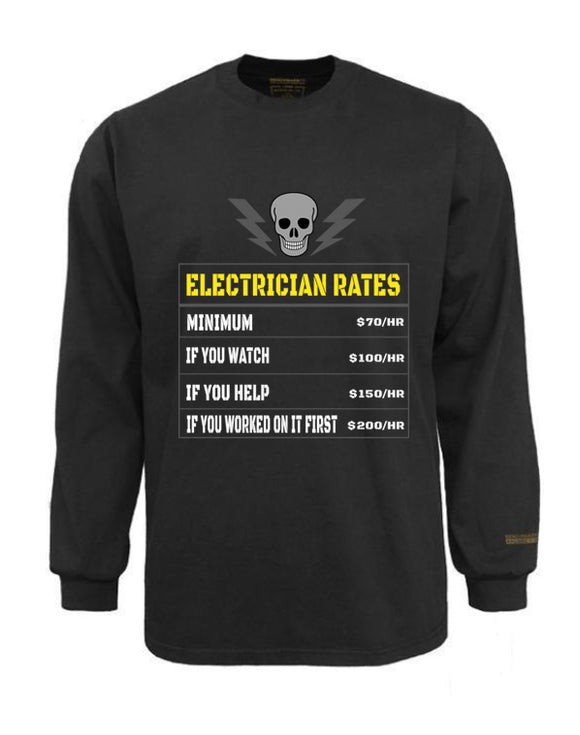 Electrician Flame & Arc Flash Resistant Custom Graphic Work Shirt Electrician Rates