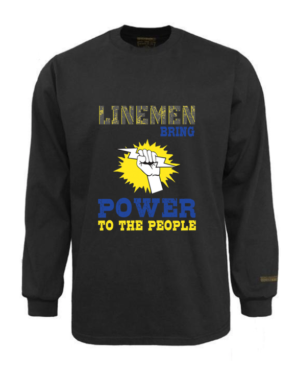 Electrician Flame & Arc Flash Resistant Custom Graphic Work Shirt Power To The People