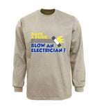 Electrician Flame & Arc Flash Resistant Custom Graphic Work Shirt Save A Fuse