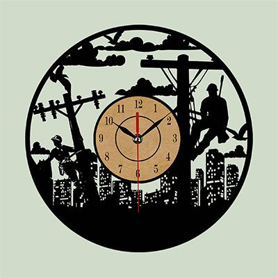 Lineman Vinyl Wall Clock
