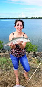 Girl Catching a Bonefish