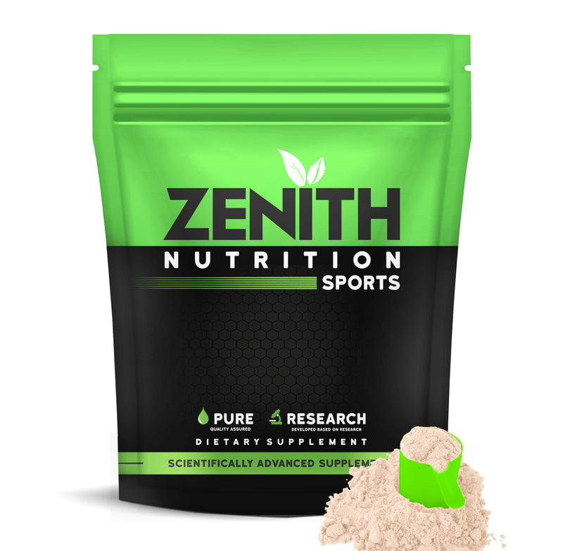 Zenith Nutrition Raw Whey Protein 80% | USA Made | with Digestive Enzymes (Unflavoured) 1 KG - ZenithSports.in