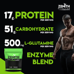 Zenith Whey Protein with Enzymes for Digestion | 26g protein | Natural Sweetener – (Double Rich Chocolate) - ZenithSports.in