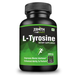 Zenith Sports L-Tyrosine 500 mg, 60 Capsules| Improves Metabolism | Healthy Nervous System