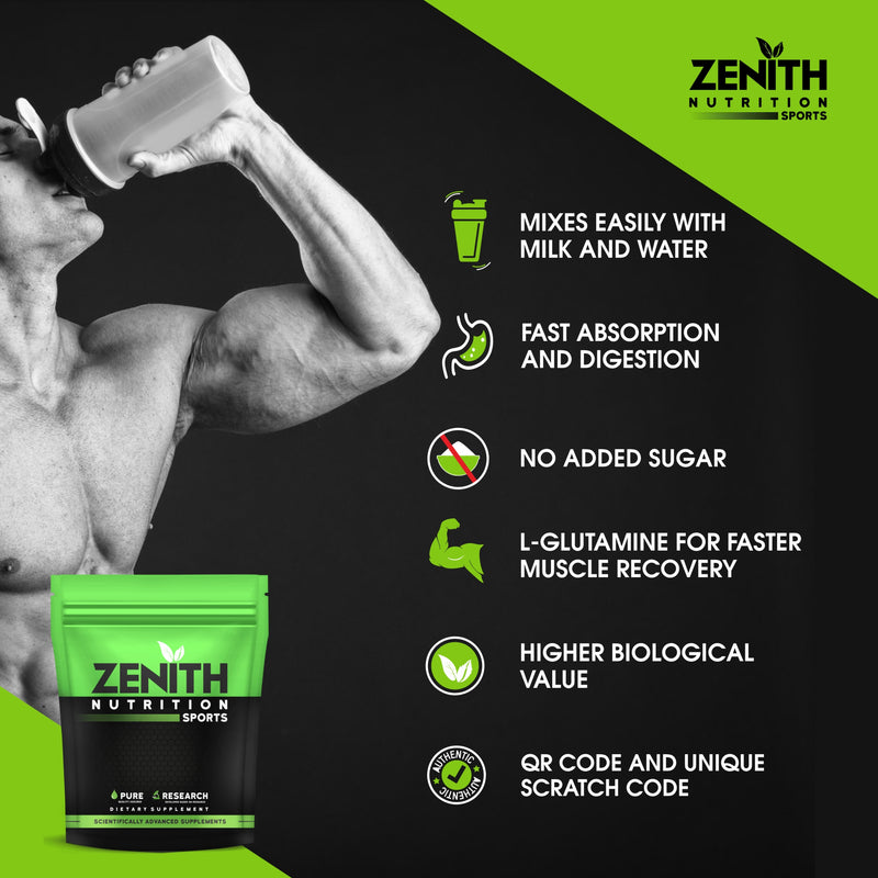 Zenith Sports Whey Protein with Enzymes for Digestion | 26g protein (Kesar Kulfi) |