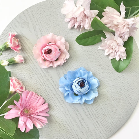 Charlotte ~ Pink/Blue Blossoms