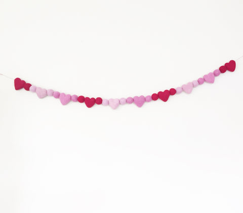Felted Wool Garland ~ Valentines