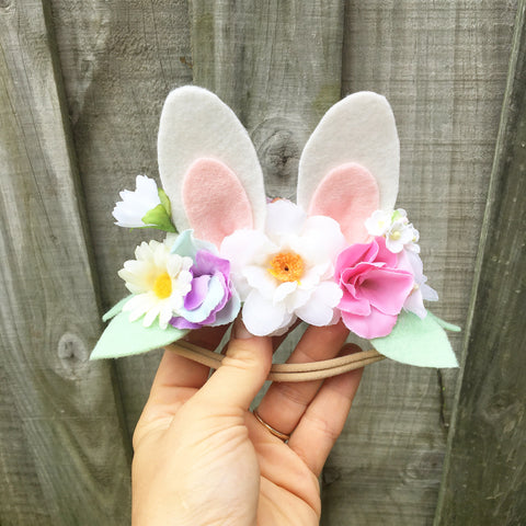 Bunny Headband White 2+ 🐰