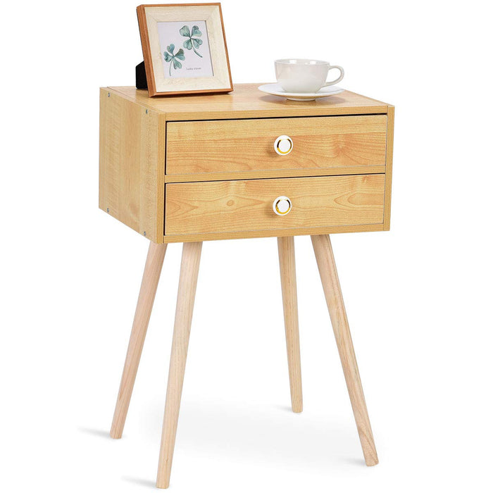 Winston Bay Sand Wood Accent Nightstand - Winston Bay Furniture