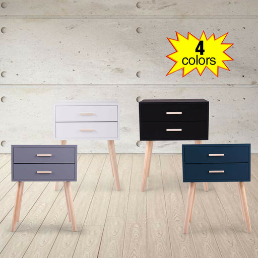 Angelic Accent Wood 2 Drawer Nightstand - Winston Bay Furniture