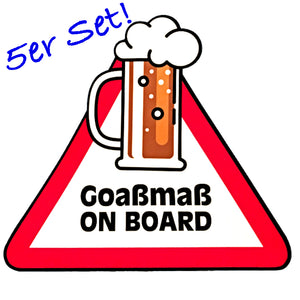 Goasmaß on Board - Aufkleber 5er Set
