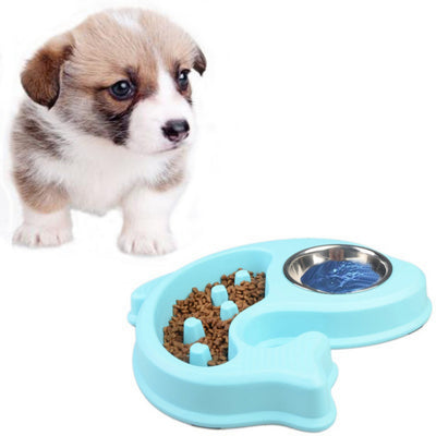 Pet Dog Supplies Anti Choking Food Water Bowl