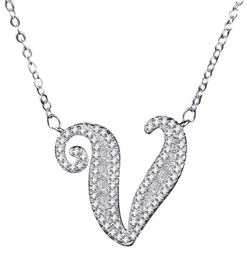 Icy Bling Initial Necklace