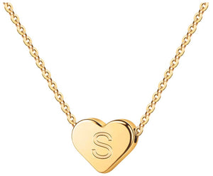 Initial Heart Necklace