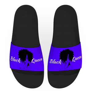 Black Queen Snap Slides (Solid)