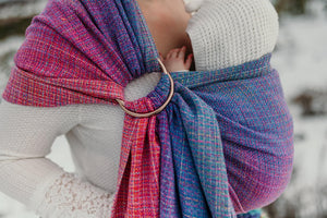 Sugar Reef ringsling - 50% cotton 50% tencel hand dyed weft