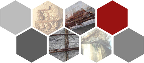 Collage of Fiber Applications for Concrete with Corrosive Resistance by Nycon