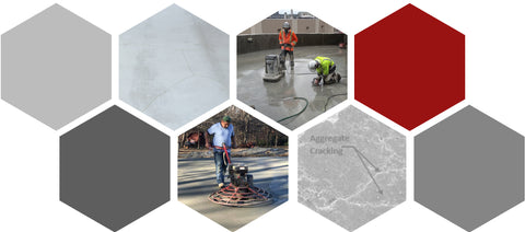 Collage of Fiber Applications for Concrete with Crack Control by Nycon