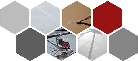 Collage of Fiber Applications for Concrete with Enhanced Finish by Nycon
