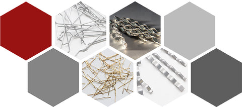 Collage of steel fibers for concrete by nycon