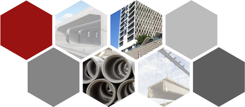 Collage of Fiber Applications for Precast Concrete by Nycon