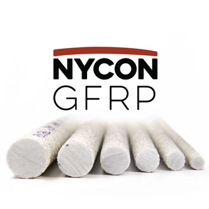 Image of Glass Fiber Reinforced Polymer (GFRP) Rebar in six sizes by Nycon