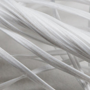 Closeup image of XL-100 macro Polypropylene fibers for concrete by Nycon