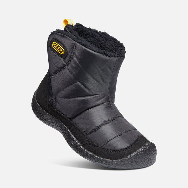 KEEN Howser II Black/KEEN Yellow Slip-On Boot