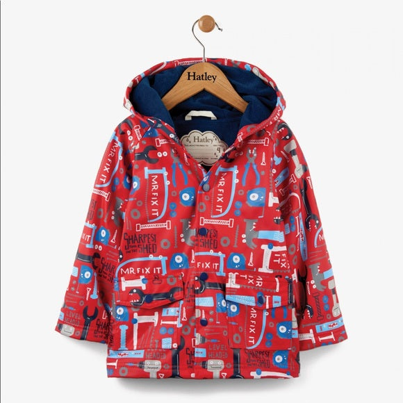 Hatley Baby Raincoat, Mr. Fix It