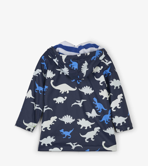 Hatley Color Changing Baby Raincoat, Dino Herd