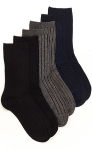Stride Rite 3-pack Collin Dress Crew Sock, Assorted Neutral