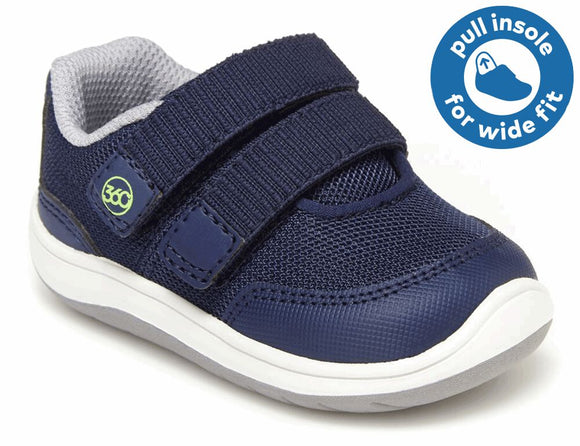 Stride Rite 360 Dash, Navy (Baby/Toddler)