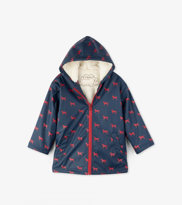 Hatley Sherpa-Lined Splash Jacket, Apple Orchard